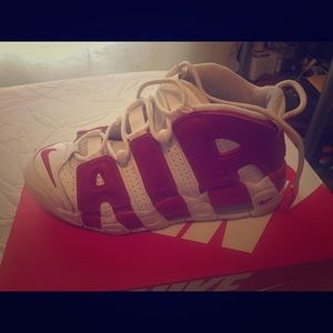 Nike Uptempo red and white